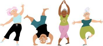 Senior yoga Stock Photos