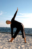 Senior yoga pose Royalty Free Stock Images