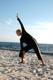 Senior yoga pose royalty free stock photo