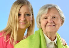 Senior and young woman. Stock Image