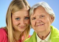 Senior and young woman. Royalty Free Stock Photo