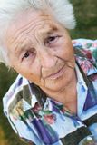 senior zaintrygowana Fotografia Stock
