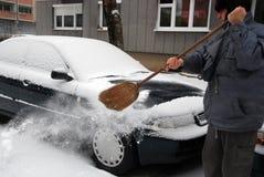 seniora clearingowy śnieg Obrazy Royalty Free