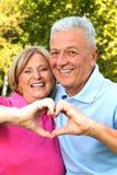 Senioren in der Liebe Lizenzfreie Stockfotos