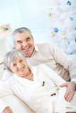 Senioren am Weihnachten Lizenzfreie Stockbilder