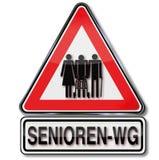 Seniorkommune und alte Leute Stockfoto