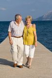 Seniors. Happy healthy attractive senior couple on vacation, seniors Stock Photos