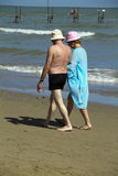 Seniors on the beach Royalty Free Stock Photos