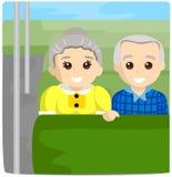 Seniors on Bus Stock Photos