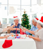 Seniors on Christmas day Royalty Free Stock Photo