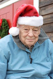 Seniors Christmas holiday stock image