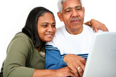Seniors On Computer Royalty Free Stock Image