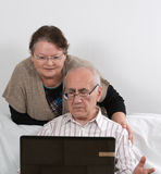 Seniors and computer Stock Photography