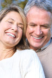 Seniors couple stock image