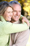 Seniors couple. Happy elderly seniors couple in park Stock Images