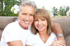 Seniors couple Stock Image