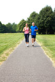 Seniors couple jogging Stock Photos