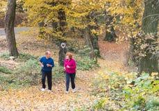 Seniors couple jogging Royalty Free Stock Photo