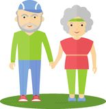 Seniors couple out for a walk Stock Image