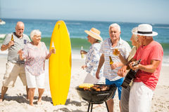 Seniors dancing to the music of a guitar Royalty Free Stock Images