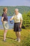 Seniors discussions Stock Photos