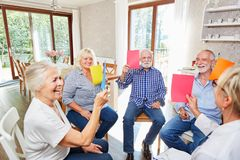Free Seniors Do Exercise In Group Therapy Stock Images - 161155564