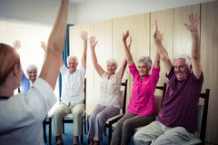 Seniors doing exercises Stock Image