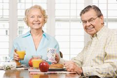 Free Seniors Eating Breakfast Stock Images - 2848624
