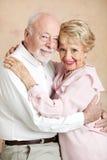 Seniors Embrace Stock Photo