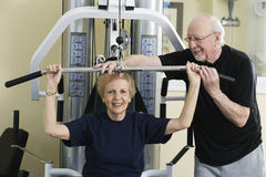Seniors Exercising royalty free stock images