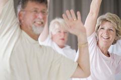 Seniors exercising Stock Images