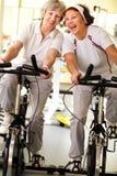Seniors exercising Stock Image