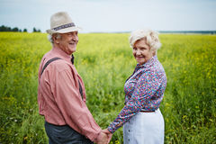 Seniors in the field Stock Photography