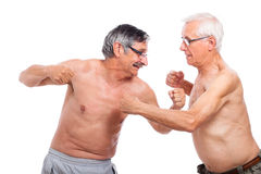 Seniors fighting Stock Image