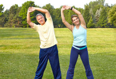 Seniors fitness Royalty Free Stock Images