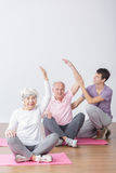 Seniors on fitness Royalty Free Stock Images