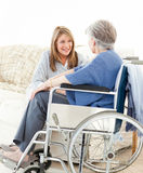 Seniors friends talking together Stock Image