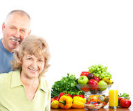 Seniors and fruits Royalty Free Stock Photo