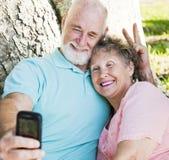 Seniors - Fun Self-Portrait Stock Photos