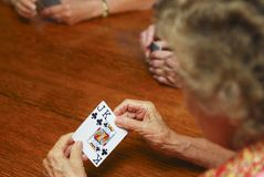 Seniors gambling Royalty Free Stock Image