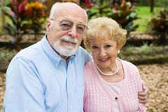 Seniors in the Garden Royalty Free Stock Photo