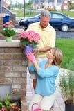 Seniors gardening Stock Image