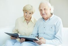 Seniors at home Royalty Free Stock Image