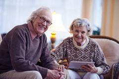 Seniors at home Stock Photography
