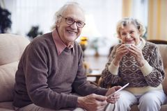 Seniors at home Royalty Free Stock Images