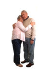 Seniors hugging. Stock Photos