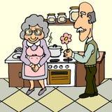 Seniors In Love Stock Photo