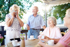Seniors laughing Royalty Free Stock Images