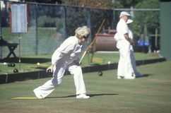 Seniors lawn bowling, Stock Photos