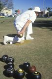 Seniors lawn bowling Stock Images